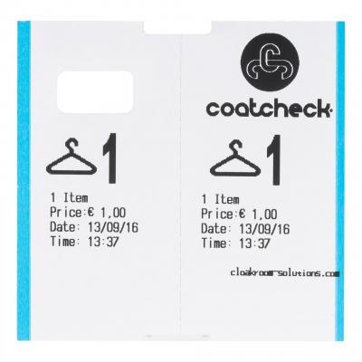 CoatCheck OneFive Ticketprinter garderobeticket