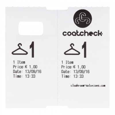CoatCheck garderobetickets 14 rollen van 325 tickets gemengde kleuren