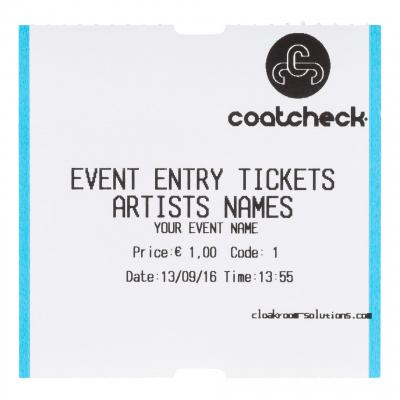 CoatCheck OneFive Ticketprinter entreeticket