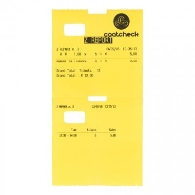 CoatCheck OneFive Ticketprinter Z-Strook