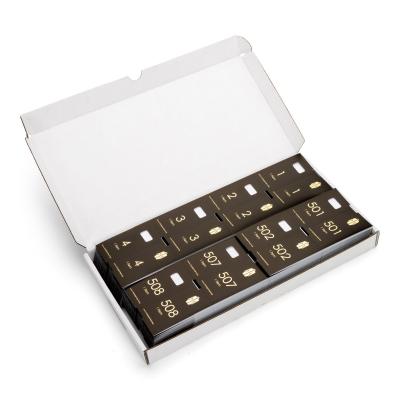 1000 voorgeprinte garderobtickets, zwart met gouden opdruk, nummers 1 tot en met 1000