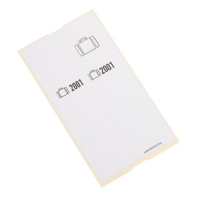 500 Bagagelabels zelfklevend, voorgeprint, serie 2001-2500
