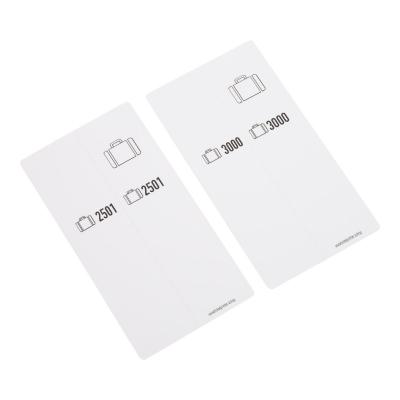 500 Bagagelabels zelfklevend, voorgeprint, serie 2501-3000, wit