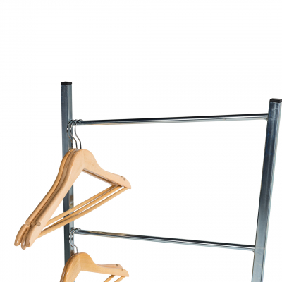 Hanger standaard en dispenser voor 50 hangers