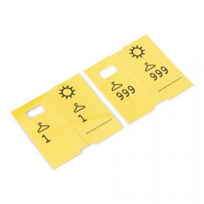 1000 voorgedrukte garderobelabels geel