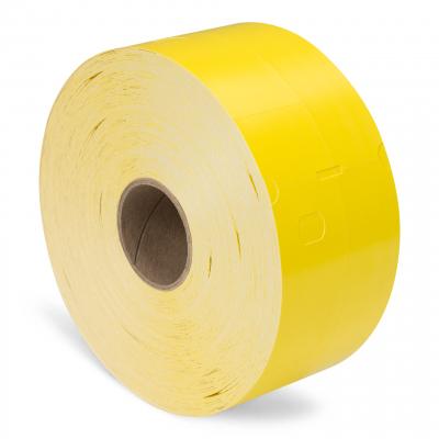 Q-Robe garderobe tickets geel 6 rollen