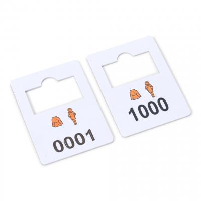 Plastic garderobe nummers 1-1000 complete set