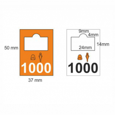 Plastic garderobenummers 0401-0500