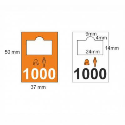 Plastic garderobenummers 0001-2000
