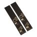 500 self-adhesive luggage tags, Black with gold print, pre-printed, series 501-1000