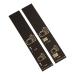 500 self-adhesive luggage tags, black with gold print, pre-printed, series 1-500