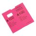 Coatcheck garderobetickets roze