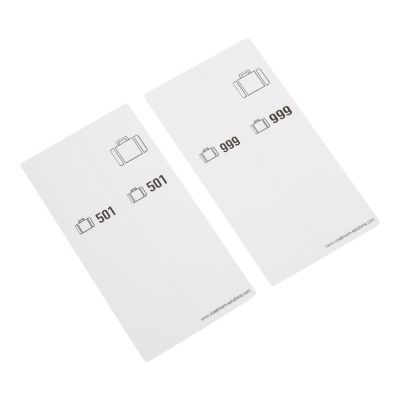 500 Bagagelabels zelfklevend voorgeprint, serie 501-1000, wit