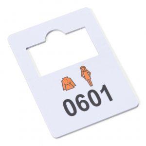 plastic garderobenummers 601-700