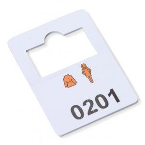 plastic garderobenummers 201-300