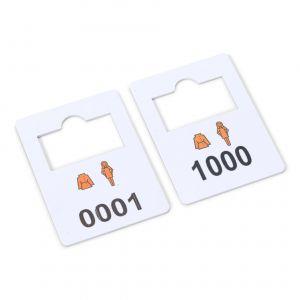 plastic cloakroom tags complete set 0001-1000
