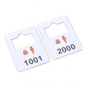 plastic garderobenummers complete set 1001-2000