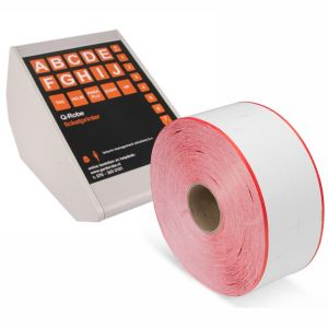 Q-Robe compatible cloakroom tickets white red 6 rolls
