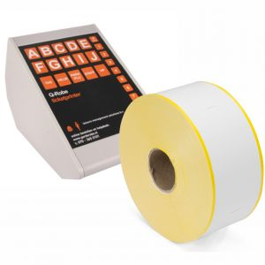 Q-Robe compatible cloakroom tickets yellow white 6 rolls