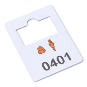 plastic garderobenummers 401-500