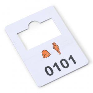 plastic garderobenummers 101-200
